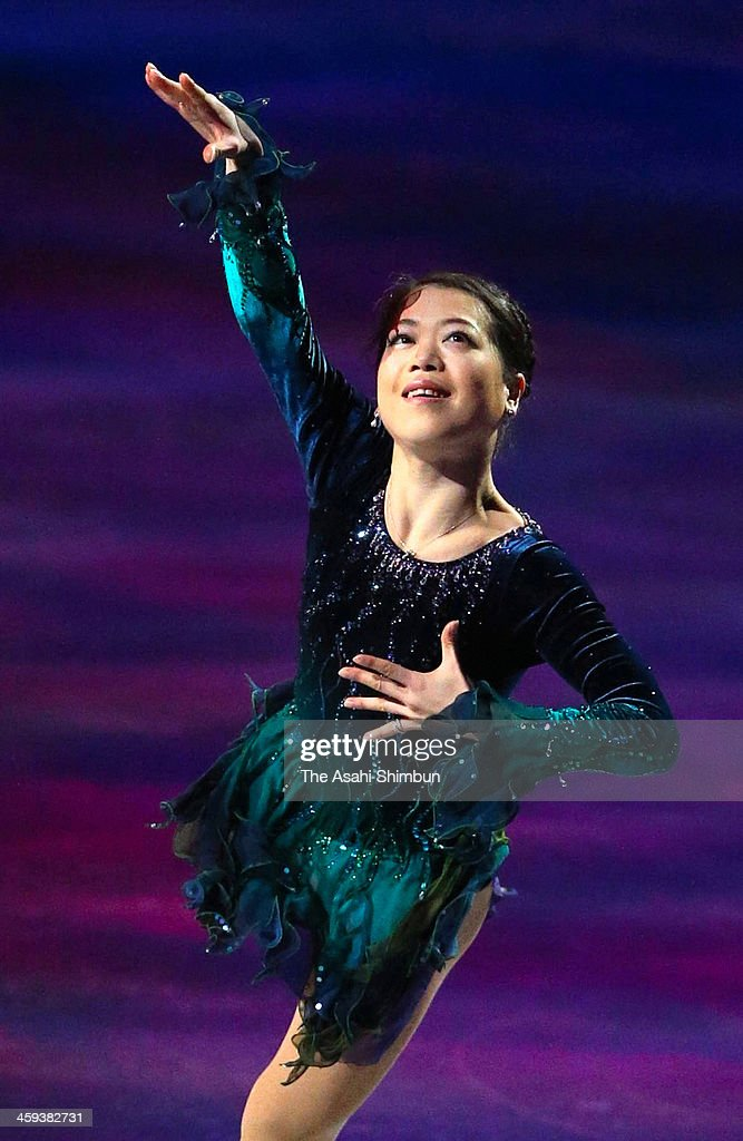 Akiko Suzuki performs in the gala exhibition during day four of the 82nd All Japan Figure Skating Championships at Saitama Super Arena on December 24, 2013 in Saitama, Japan.