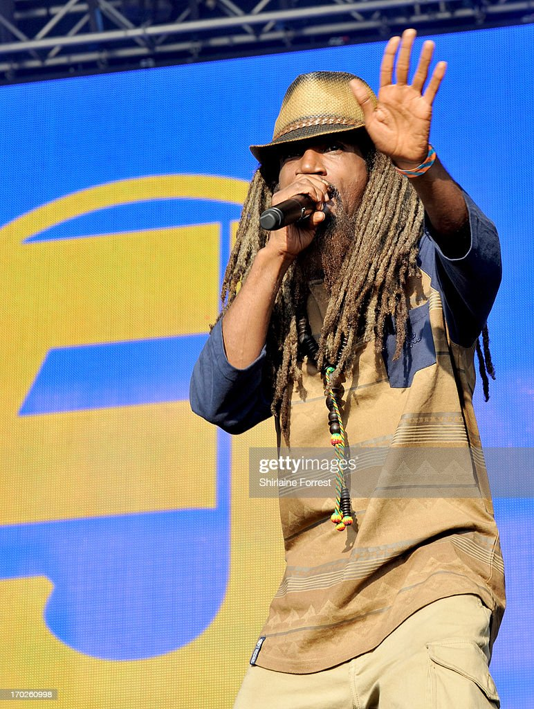 Akil of Jurassic 5 performs at Day 2 of the Parklife Festival at Heaton Park on June 9, 2013 in Manchester, England.