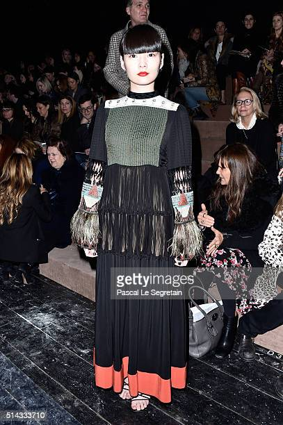 Akimoto Kozue attends the Valentino show as part of the Paris Fashion Week Womenswear Fall/Winter 2016/2017 on March 8 2016 in Paris France