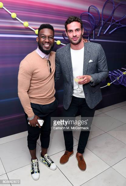 Akin SolankeCaulker and James Dunmore attend the annual WTA PreWimbledon Party at The Roof Gardens Kensington on June 29 2017 in London United Kingdom