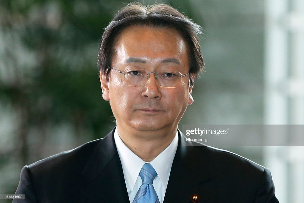 <a gi-track='captionPersonalityLinkClicked' href=/galleries/search?phrase=Akinori+Eto&family=editorial&specificpeople=5129797 ng-click='$event.stopPropagation()'>Akinori Eto</a>, Japan's newly named defense and security legislation minister, arrives at the prime minister's official residence in Tokyo, Japan, on Wednesday, Sept. 3, 2014. Japanese Prime Minister Shinzo Abe placed an advocate of pro-market reforms in charge of the government pension fund and named a rising female politician as industry minister as he seeks to restore momentum to his Abenomics policies with a cabinet reshuffle today. Photographer: Kiyoshi Ota/Bloomberg via Getty Images
