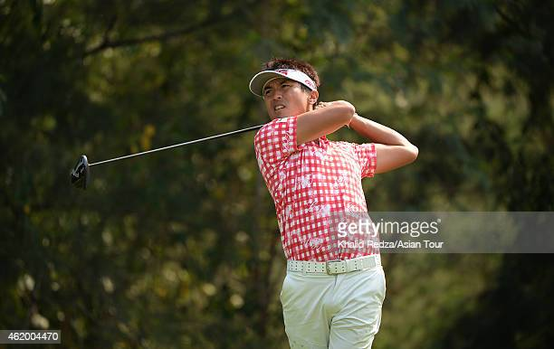 Akinori Tani of Japan in action during round three of the Asian Tour Qualifying School presented by Sports Authority of Thailand at the Springfield...