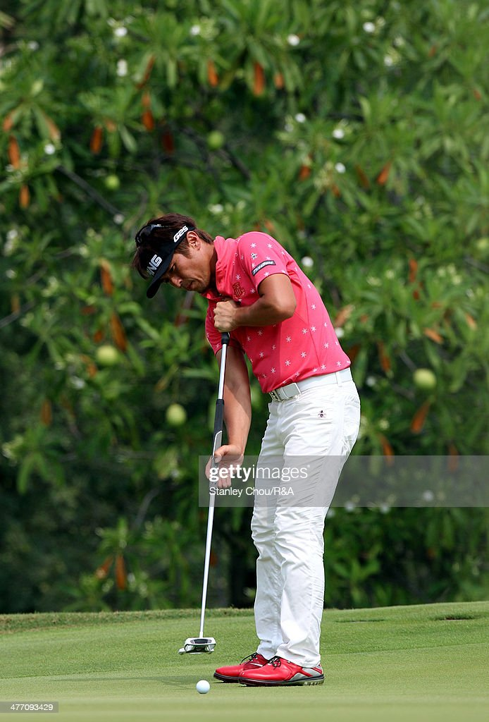 Akinori Tani of Japan putts on the 7th hole during Day Two of The Open Qualifying Series Thailand 2014 at the Amata Spring Golf Club on March 7, 2014 in Bangkok, Thailand.
