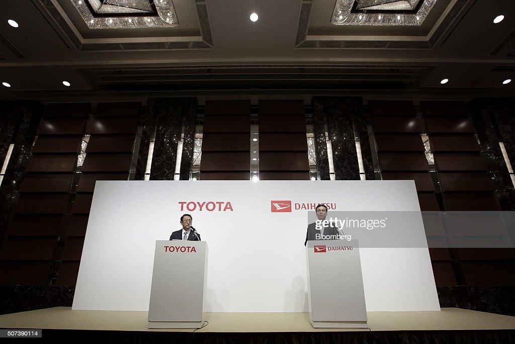 Toyota Motor Corp President Akio Toyoda And Daihatsu