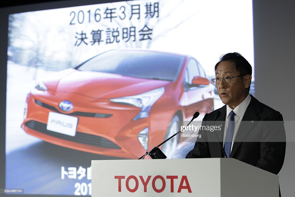 Toyota Motor Corp President Akio Toyoda Makes Earnings