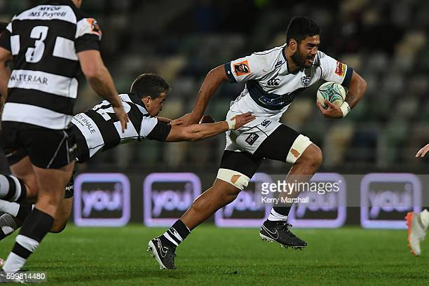 Akira Ioane of Auckland in action during the round four Mitre 10 Cup match between Hawke's Bay and Auckland at McLean Park on September 7 2016 in...
