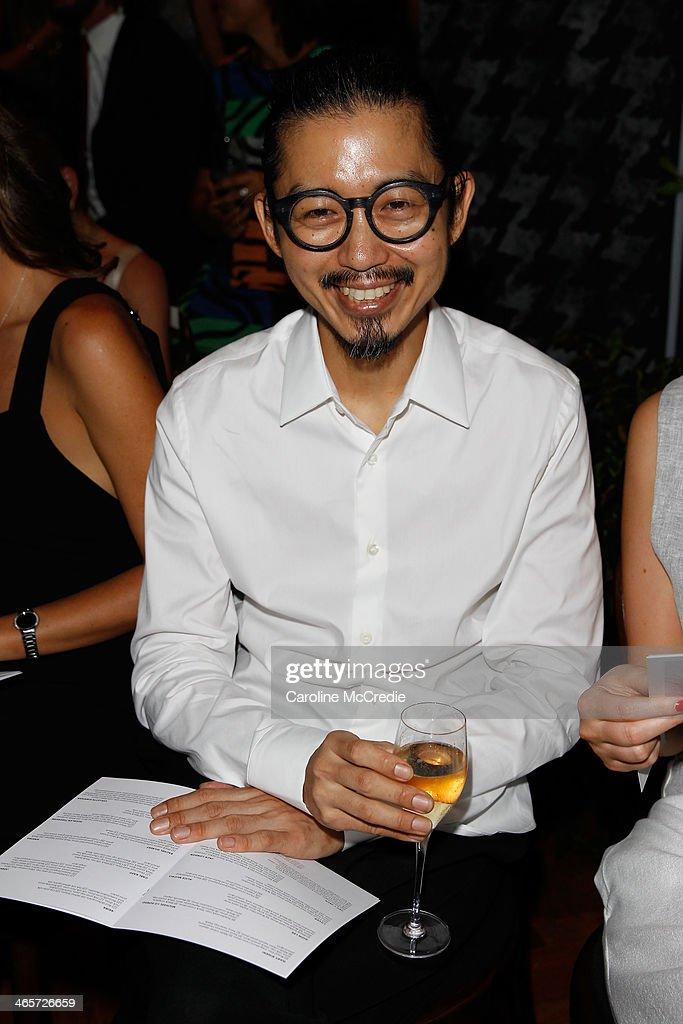 Akira Isogawa attends the David Jones A/W 2014 Collection Launch at the David Jones Elizabeth Street Store on January 29 2014 in Sydney Australia