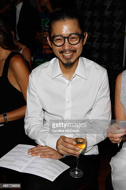 Akira Isogawa attends the David Jones A/W 2014 Collection Launch at the David Jones Elizabeth Street Store on January 29 2014 in Sydney Australia