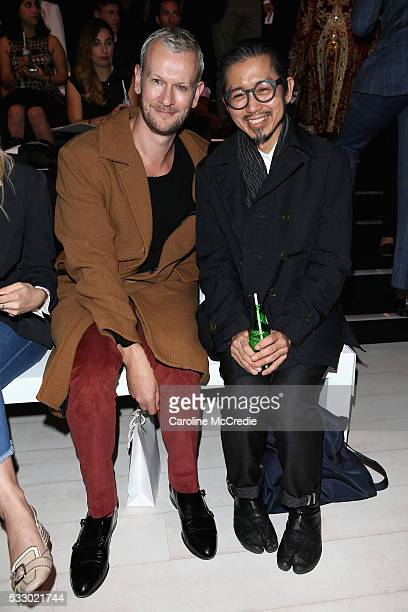 Akira Isogawa attends the Oscar de la Renta show presented by Etihad Airways at MercedesBenz Fashion Week Resort 17 Collections at Carriageworks on...