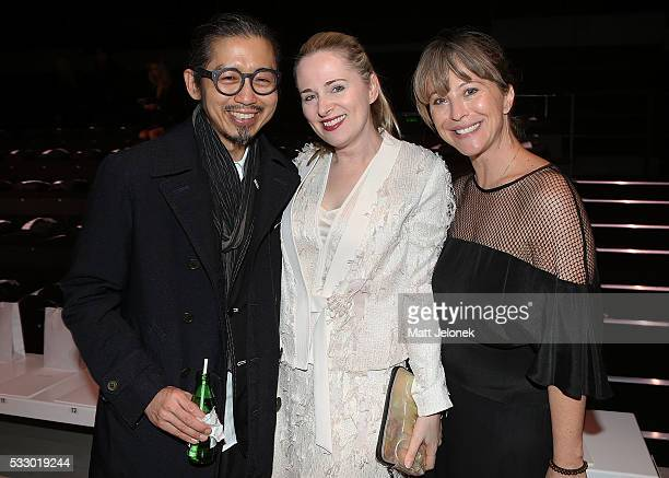 Akira Isogawa Clare Press Emily Weight attend the Oscar de la Renta show presented by Etihad Airways at MercedesBenz Fashion Week Resort 17...
