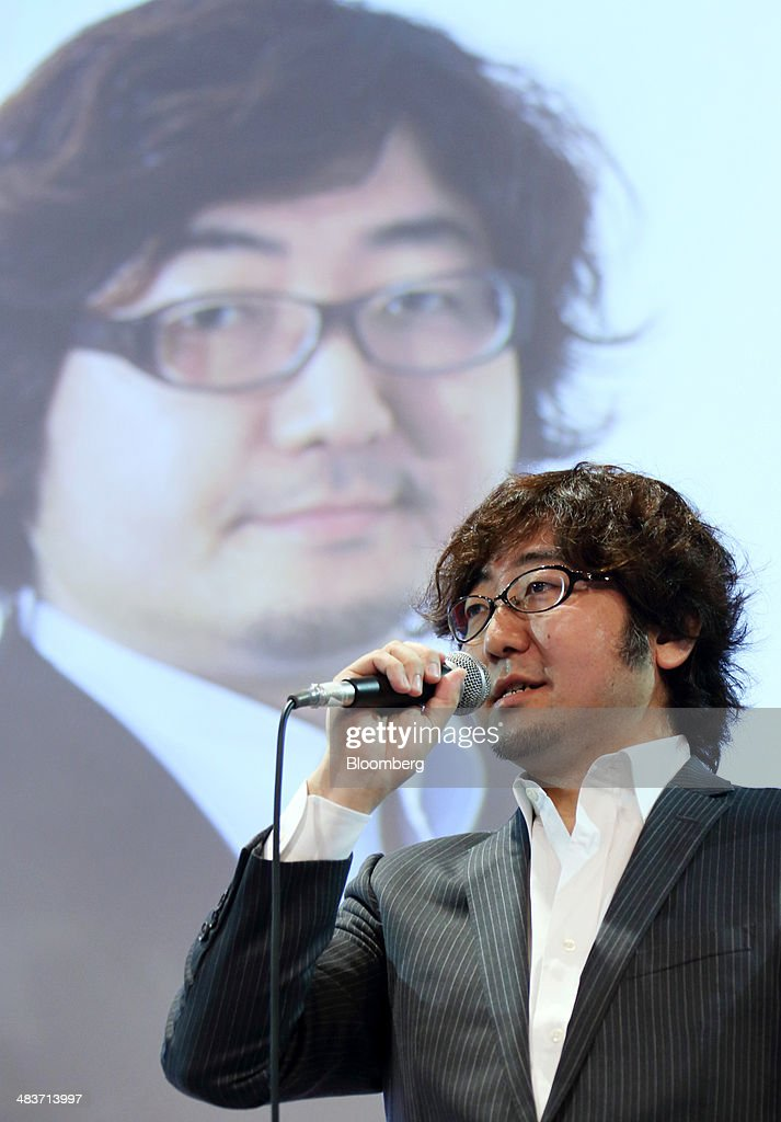 <a gi-track='captionPersonalityLinkClicked' href=/galleries/search?phrase=Akira+Morikawa&family=editorial&specificpeople=6894864 ng-click='$event.stopPropagation()'>Akira Morikawa</a>, chief executive officer of Line Corp., speaks during a session at the New Economy Summit in Tokyo, Japan, on Thursday, April 10, 2014. The conference, hosted by the Japan Association of New Economy, ends today. Photographer: Tomohiro Ohsumi/Bloomberg via Getty Images