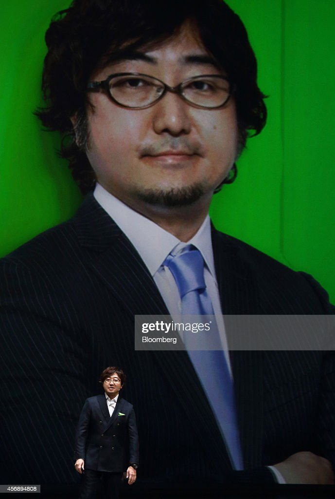 <a gi-track='captionPersonalityLinkClicked' href=/galleries/search?phrase=Akira+Morikawa&family=editorial&specificpeople=6894864 ng-click='$event.stopPropagation()'>Akira Morikawa</a>, chief executive officer of Line Corp., speaks during Line Conference Tokyo 2014 in Urayasu, Chiba Prefecture, Japan, on Thursday, Oct. 9, 2014. Line will introduce a pay function this winter that can be used to shop online and send money to friends, the company announced at a business strategy briefing today. Photographer: Tomohiro Ohsumi/Bloomberg via Getty Images