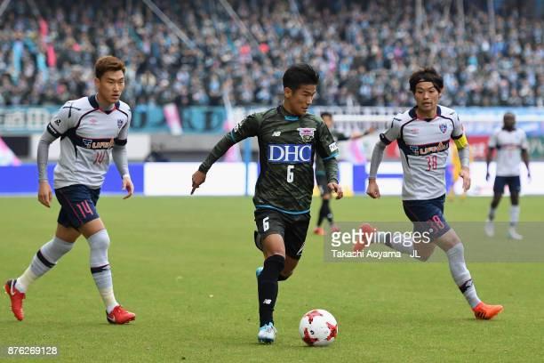 Akito Fukuta of Sagan Tosu in action during the JLeague J1 match between Sagan Tosu and FC Tokyo at Best Amenity Stadium on November 18 2017 in Tosu...