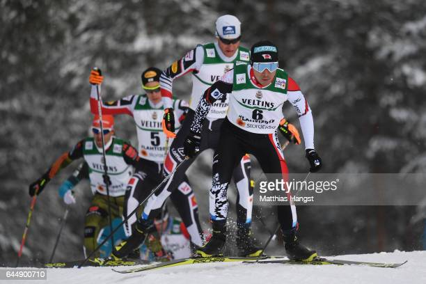 Akito Watabe of Japan competes in the Men's Nordic Combined 10KM Cross Country during the FIS Nordic World Ski Championships on February 24 2017 in...