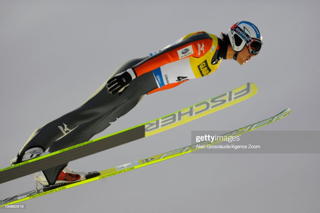 <a gi-track='captionPersonalityLinkClicked' href=/galleries/search?phrase=Akito+Watabe&family=editorial&specificpeople=829954 ng-click='$event.stopPropagation()'>Akito Watabe</a> of Japan during the FIS Nordic Combined World Cup HS134/10km on December 4, 2011 in Lillehammer, Norway.