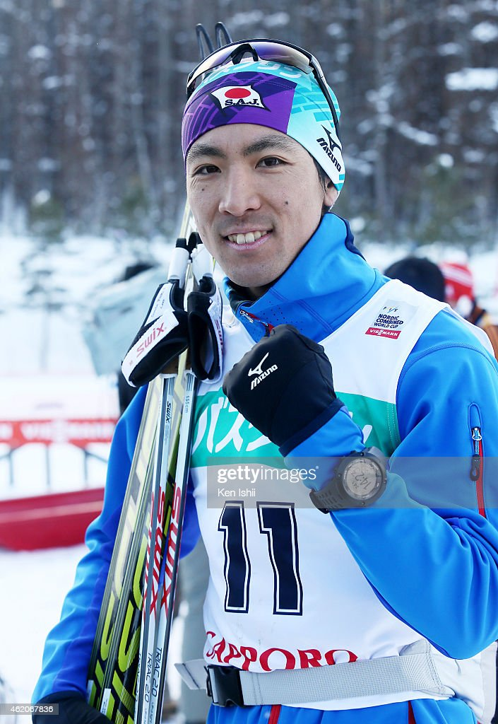 <a gi-track='captionPersonalityLinkClicked' href=/galleries/search?phrase=Akito+Watabe&family=editorial&specificpeople=829954 ng-click='$event.stopPropagation()'>Akito Watabe</a> of Japan takes second place in the XC 10 km Individual Gundersen during the day two of FIS Men's Nordic Combined World Cup at Shirahatayama Stadium on January 24, 2015 in Sapporo, Japan.