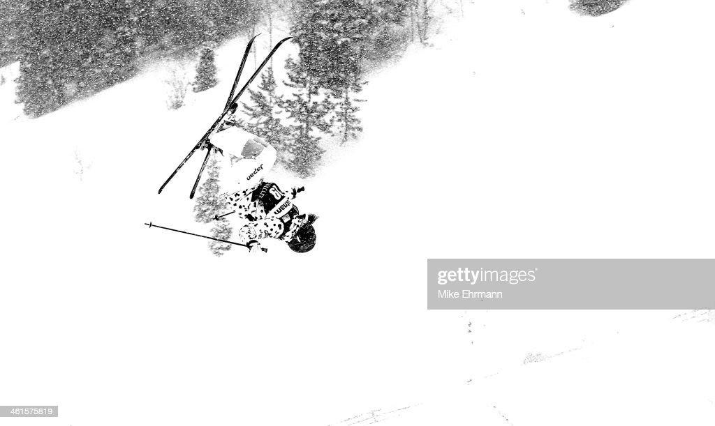 Ako Iwamoto of Japan competes during qualifying for the Womens Moguls at the 2014 FIS Freestyle Ski World Cup at Deer Valley on January 9, 2014 in Park City, Utah.