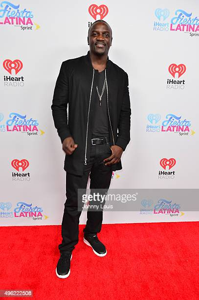 Akon arrives at I Heart Radio Festival Latina at American Airlines Arena on November 7 2015 in Miami Florida
