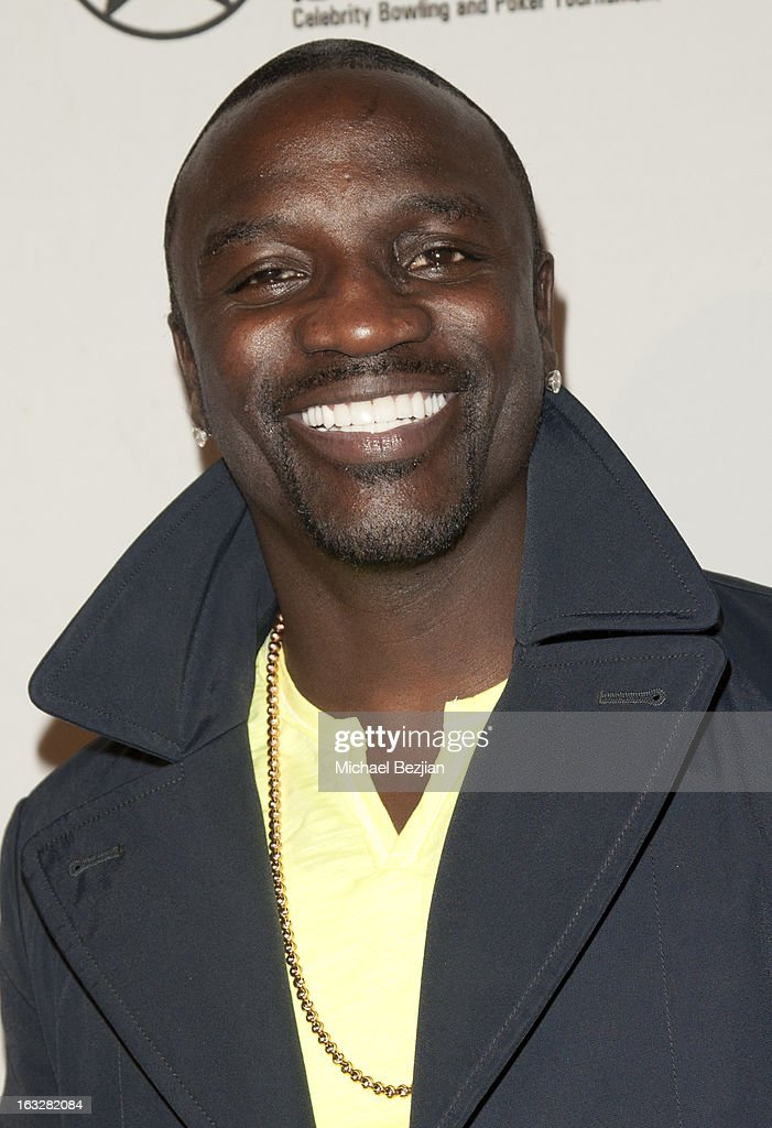 Akon attends 7th Annual 'Stars & Strikes' Celebrity Bowling And Poker Tournament Benefiting A Place Called Home at PINZ Bowling & Entertainment Center on March 6, 2013 in Studio City, California.