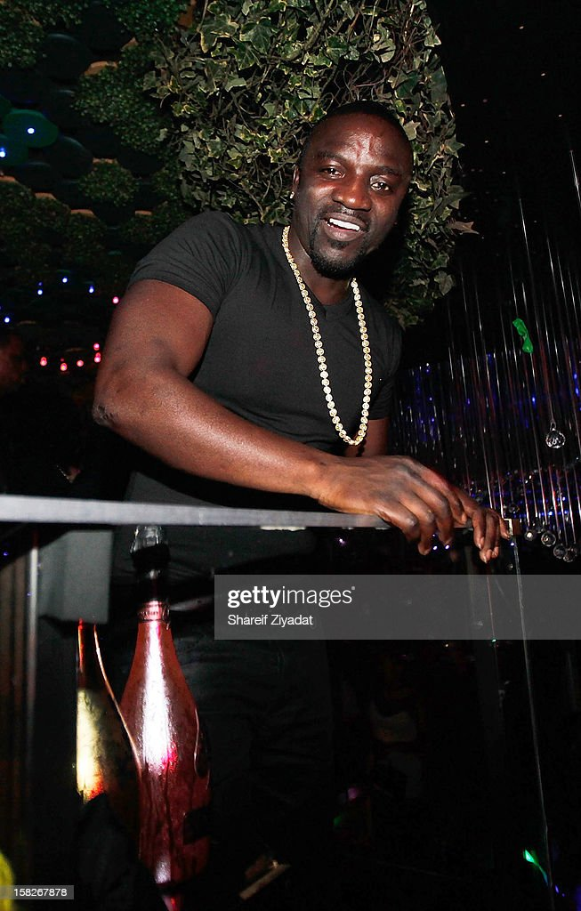 Akon attends Jamie Foxx birthday celebration of at Greenhouse on December 11, 2012 in New York City.