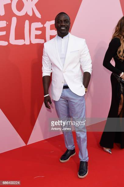 Akon attends the Fashion for Relief event during the 70th annual Cannes Film Festival at Aeroport Cannes Mandelieu on May 21 2017 in Cannes France