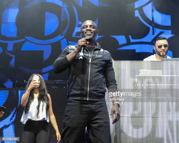 Akon attends the Miami Bash 2017 at American Airlines Arena on April 23 2017 in Miami Florida