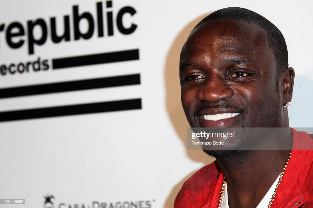 Akon attends the Republic Records post GRAMMY party held at The Emerson Theatre on February 10, 2013 in Hollywood, California.