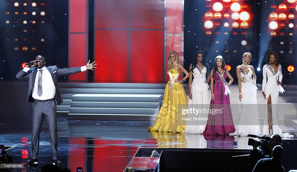 Akon performs during the 2012 Miss USA pageant at the Planet Hollywood Resort & Casino on June 3, 2012 in Las Vegas, Nevada.