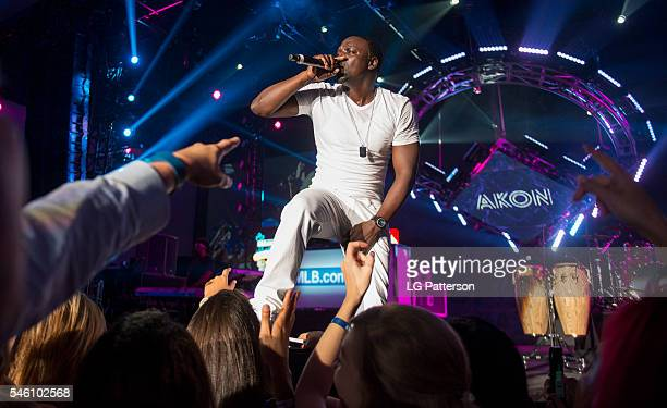 Akon performs during the MLBcom AllStar Bash on Sunday July 10 2016 in San Diego California