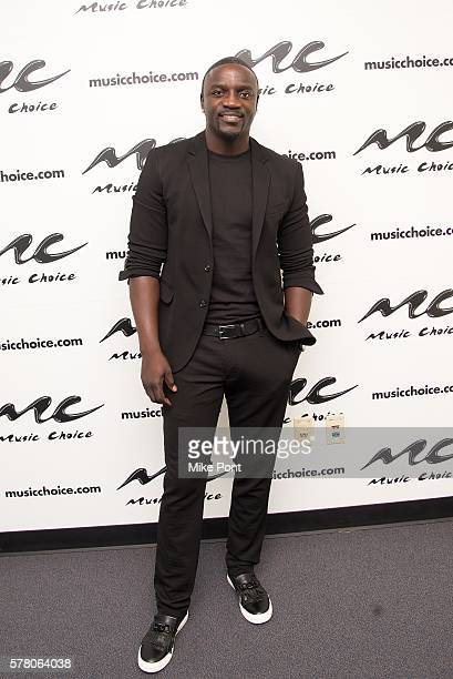 Akon visits Music Choice on July 20 2016 in New York City