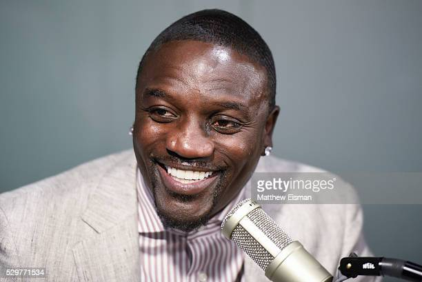Akon visits 'The Whoolywood Shuffle' with host DJ Whoo Kid on Eminem's Shade 45 at SiriusXM Studio on May 9 2016 in New York City