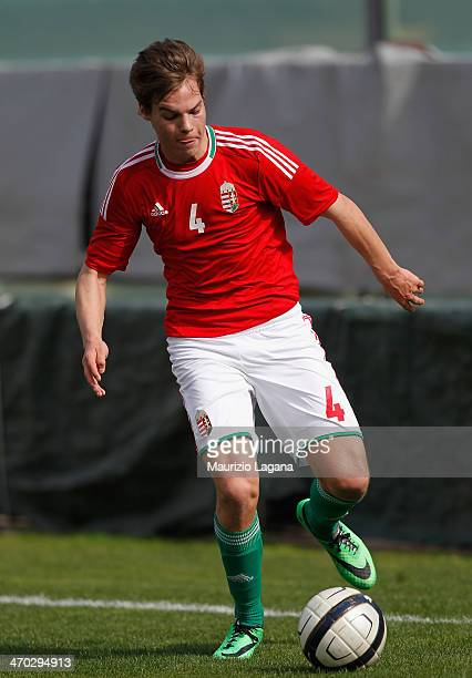 Akos Fodor of Hungary during the international friendly match between Italy U17 and Hungary U17 at Stadio Oreste Granillo on February 19 2014 in...