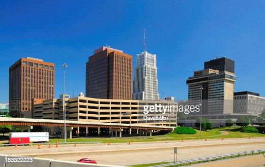 Akron, OH downtown skyline