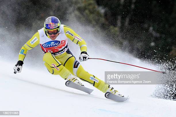 Aksel lund Svindal of Norway competes and takes 6th place during the Audi FIS Alpine Ski World Cup Men's Downhill on December 29 2011 in Bormio Italy