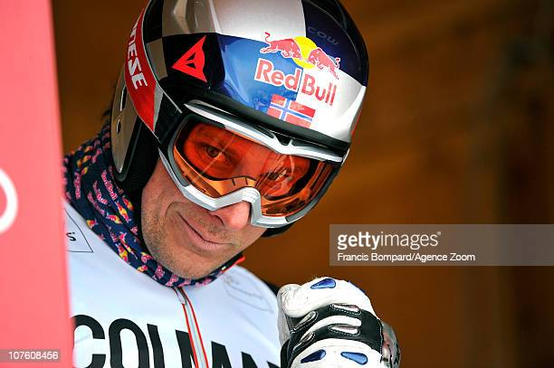 Aksel Lund Svindal of Norway competes during the Audi FIS Alpine Ski World Cup Men's Downhill Training on December 15 2010 in Val Gardena Italy