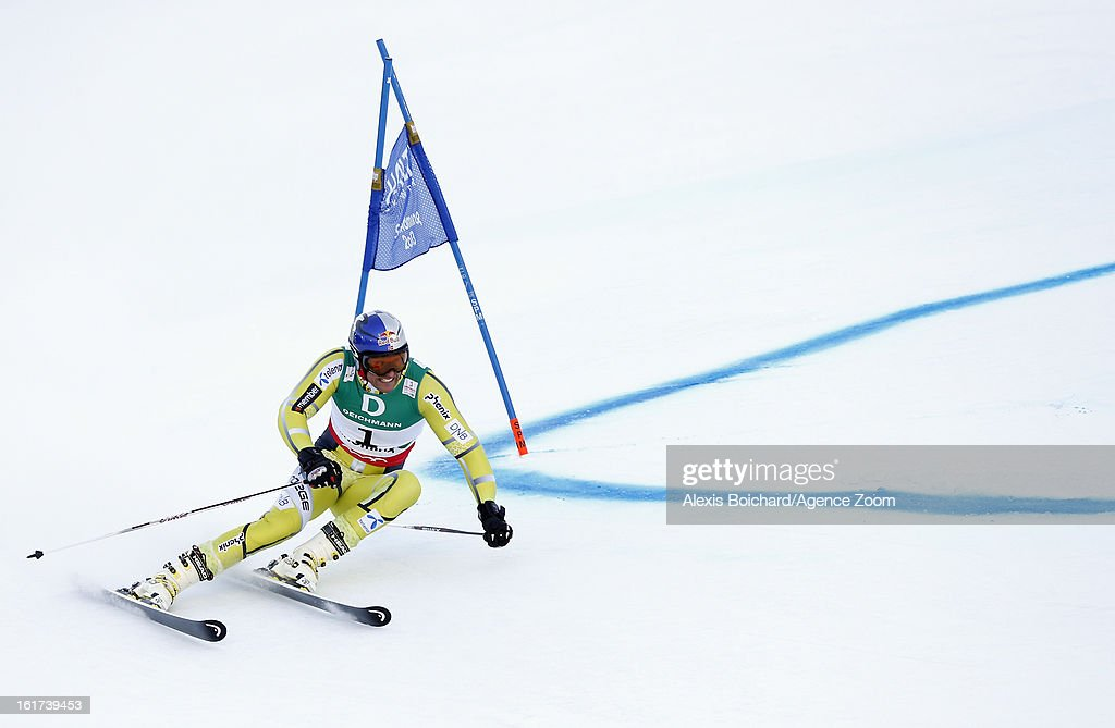 Aksel Lund Svindal of Norway competes during the Audi FIS Alpine Ski World Championships Men's Giant slalom on February 15, 2013 in Schladming, Austria.