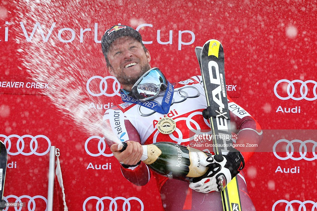 <a gi-track='captionPersonalityLinkClicked' href=/galleries/search?phrase=Aksel+Lund+Svindal&family=editorial&specificpeople=227957 ng-click='$event.stopPropagation()'>Aksel Lund Svindal</a> of Norway takes 1st place during the Audi FIS Alpine Ski World Cup Men's Downhill on December 04, 2015 in Beaver Creek, Colorado.