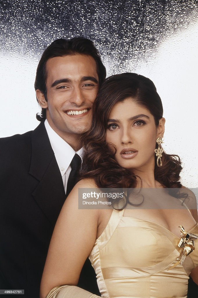 1992, Akshay Khanna and <a gi-track='captionPersonalityLinkClicked' href=/galleries/search?phrase=Raveena+Tandon&family=editorial&specificpeople=3007225 ng-click='$event.stopPropagation()'>Raveena Tandon</a>.
