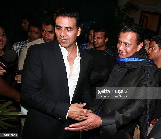 Akshay Kumar and Mithun Chakraborty at the music launch of the movie Enemmy in Mumbai