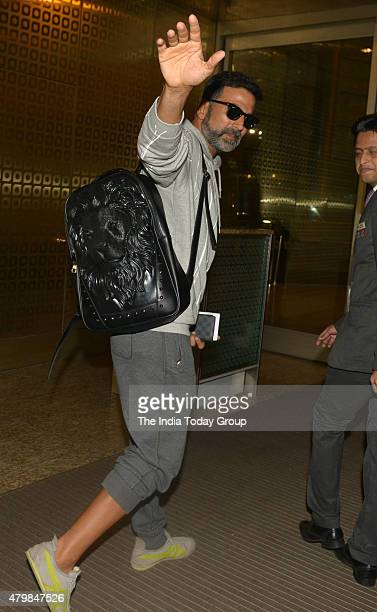 Akshay Kumar spotted at the Mumbai airport on 7th July 2015
