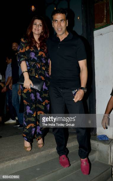 Akshay Kumar with wife Twinkle Khanna Spotted at Korner House in Bandra Mumbai