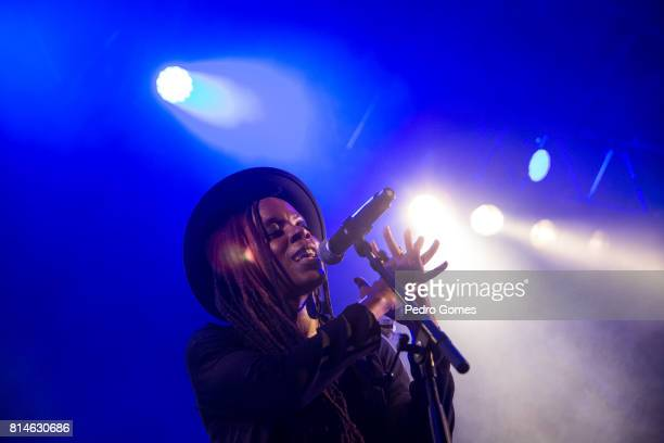 Akua Naru performs on EDP stage at day 2 of Super Bock Super Rock festival on July 14 2017 in Lisbon Portugal