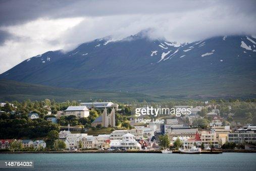 Akureyri Church and town.