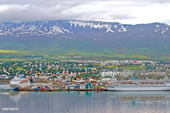 Akureyri Iceland Europe volcanic islandvolcan landscape North Atlantic polar circle