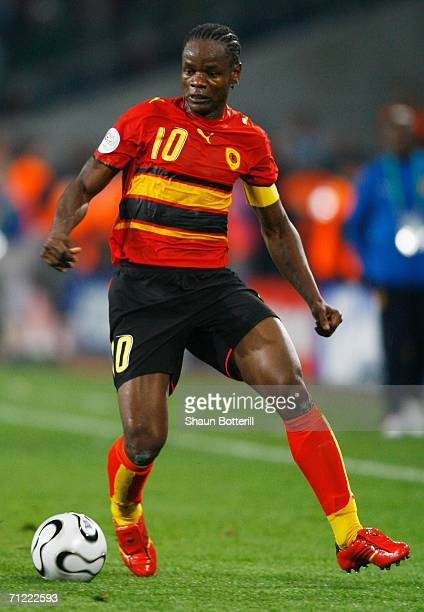 Akwa of Angola in action during the FIFA World Cup Germany 2006 Group D match between Mexico and Angola played at the Stadium Hanover on June 16 2006...