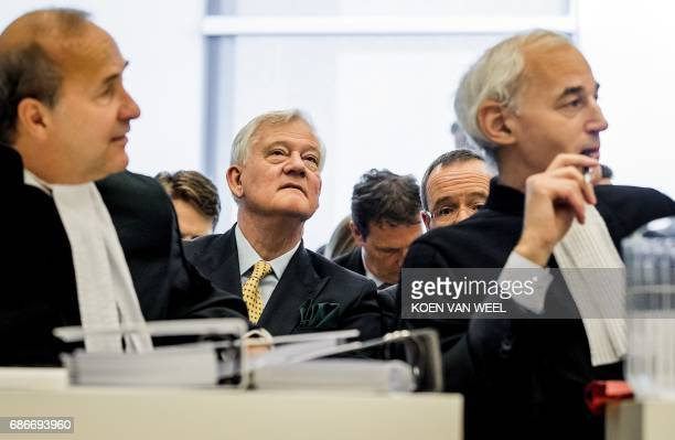 Akzo Nobel Chairman Antony Burgmans looks on while in court on May 22 2017 in Amsterdam Activist investor Elliott Management Corp is asking the Dutch...