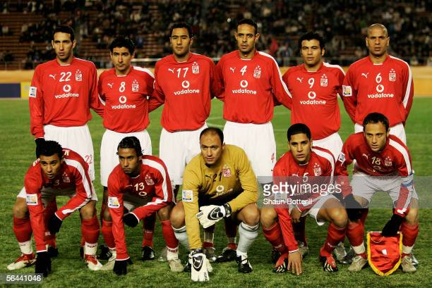 Al Ahly pose for a team photograph before the FIFA Club World Championship Toyota Cup 2005 match between Al Ahly and Sydney FC at The National...