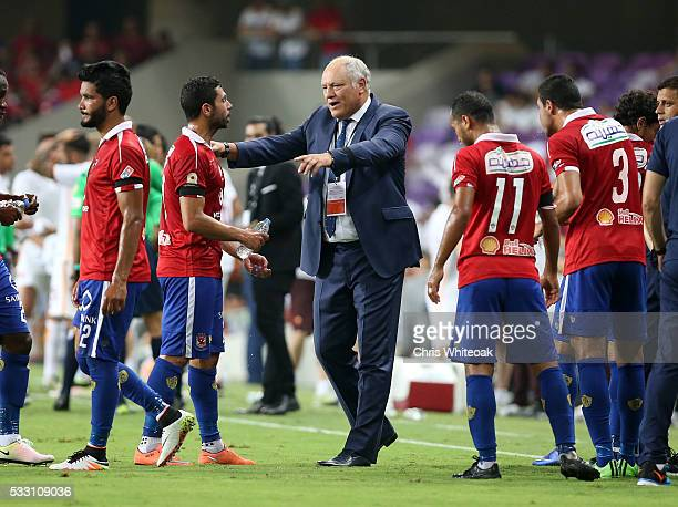 Al Ahly's manager Martin Jol during the international friendly match between AS Roma and Al Ahly on May 20 2016 in Al Ain United Arab Emirates