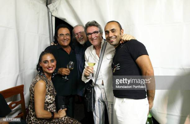 Al Bano and Matia Bazar during a photo shooting Cellino San Marco Italy 10th August 2009