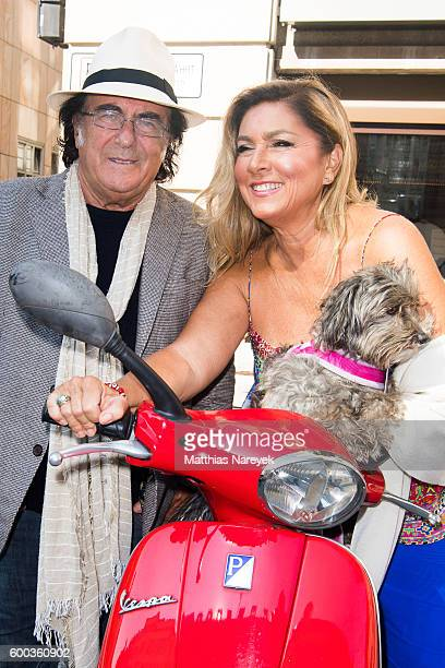 Al Bano and Romina Power attend a photocall at Westin Grand Hotel on September 8 2016 in Berlin Germany